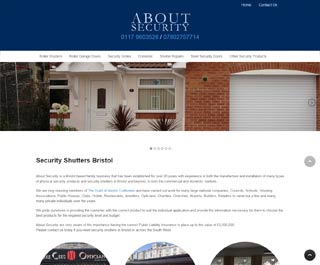 About Security Bath web design client