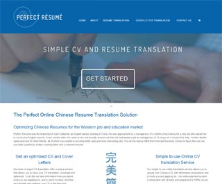 Perfect Resume, website design in Bath